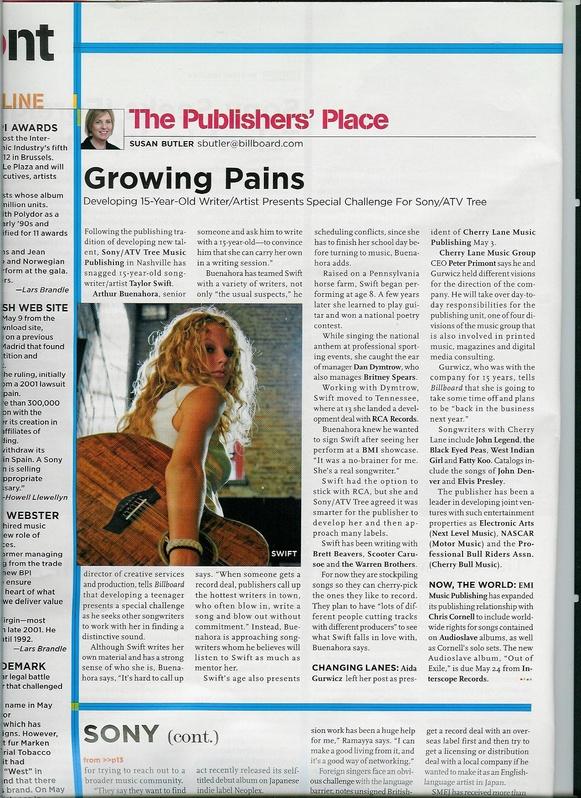 Billboard article